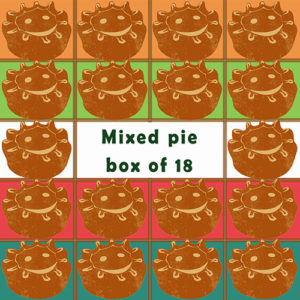Mixed flavour box of 18 pies